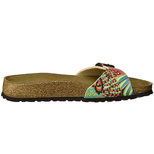 Papillio Womens by Birkenstock Madrid Synthetic Sandals African Wax Raspberry