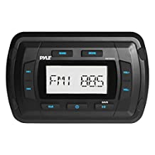 Pyle PATVR10 Pyle Marine Bluetooth Radio Receiver, Water Resistant Stereo Head unit, MP3/USB/AUX