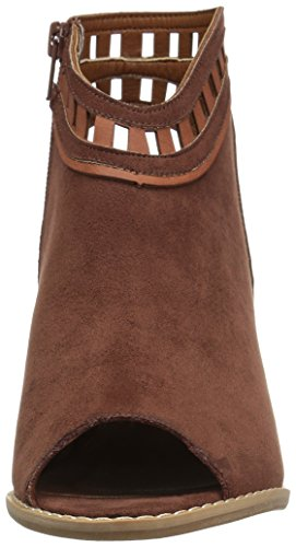 Dolce Sandals Open Fabric Casual Cognac Maddie Suede by Mojo Womens Moxy Platform Toe vwqvrYX