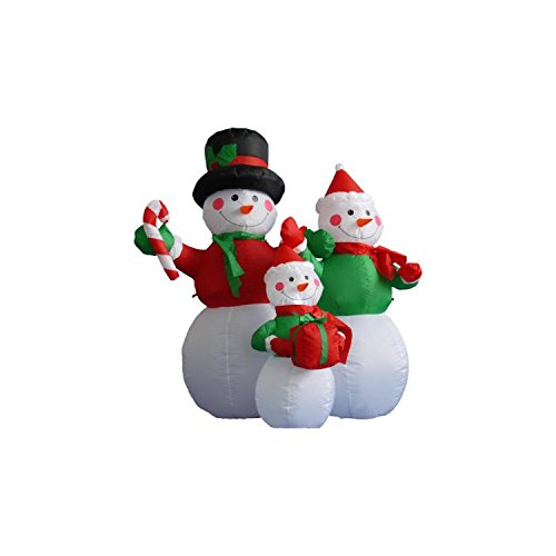 Outdoor Lighted Snowman Family - 4