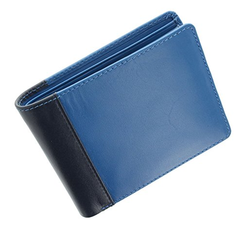 Fold Blue Two Blue Tone Leather Multi Multi Wallet Visconti JULIUS Collection Lucca Gents Bi LC37 Oqw8FR