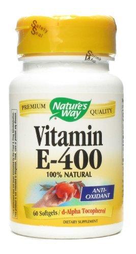 400 Iu Natures Way - Nature's Way Vit E 400 IU D-Alpha w/Tocopherols 60 Softgel by Nature's Way