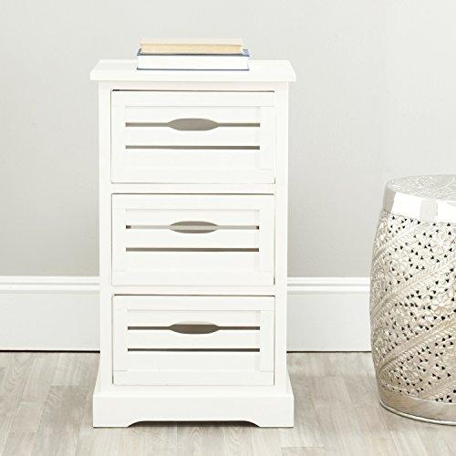 Safavieh American Homes Collection Samara 3 Drawer Cabinet, Distressed Cream