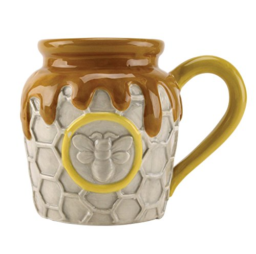 Honeycomb And Beehive Mug, 18 oz,