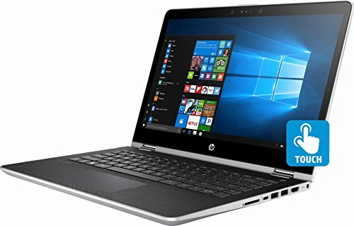 HP Pavilion x360 14 Inch HD touchscreen 2-in-1 laptop (2018 Newest), Intel Core i3-7100U 2.4 GHz, 8GB RAM, 500GB HDD, 802.11ac, Bluetooth, USB-C, HDMI, HP Active Stylus Pen included, Windows 10