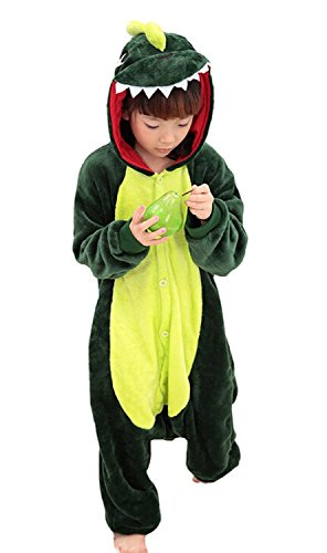 [ABING Halloween Pajamas Homewear OnePiece Onesie Cosplay Costumes Kigurumi Animal Outfit Loungewear,Dinosaur Chidren Size 95 -for] (Animal Halloween Costumes Men)