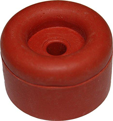 Dresselhaus Door Buffer, Rubber 15, 30 x 26 mm, 25 pcs, Red