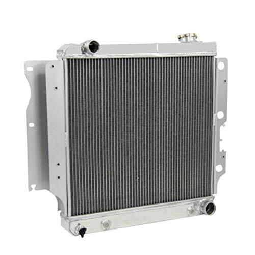 (OzCoolingParts 4 Row Core Aluminum Radiator for 1987-2006 88 89 90 91 92 93 94 95 96 97 98 99 00 01 02 03 04 05 Jeep Wrangler TJ YJ GM Chevy V8 Conversion)