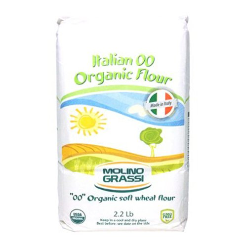 Molino Grassi USDA Organic Italian Soft Wheat Flour, 2.2 Pound (Pack of 10)