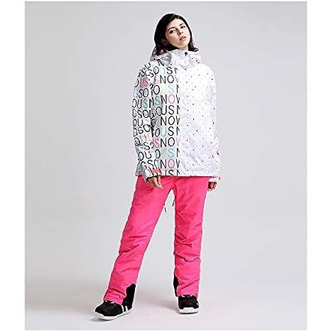 Pantaloni da Giacca da Sci Giacca da Snowboard Invernale Impermeabile Giacca da Montagna Sport allAria Aperta Tuta a Due Pezzi Traspirante Calda Aitry Tuta da Sci da Donna