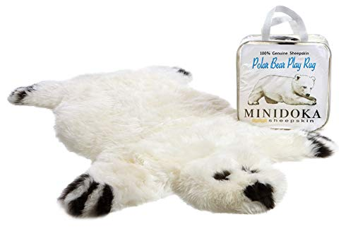 Genuine Sheepskin Polar Bear Play Rug by Minidoka Sheepskin (Best Baby Play Mat Australia)