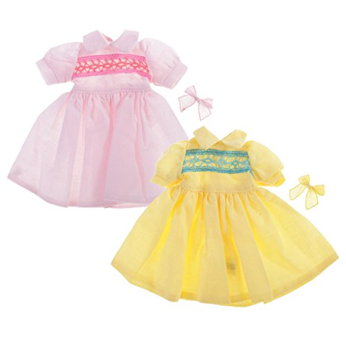 MonkeyJack For AZONE Licca 1/6 Scale Neo Blythe Dolls Dresses Outfit Clothing 2 Sets