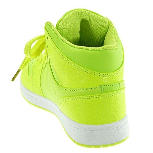 Chaussures De Plat Jaune Formateurs Peau Angkorly Cm Femmes Talon Haute Perforé Serpent Tennis 3 Des Mode Uw4FUrqHg