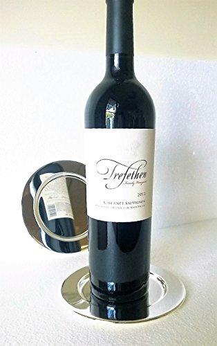 Pratique Wine Bottle Coaster, Silver Plated Bottle Coaster, one coaster