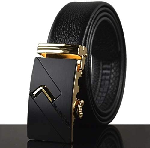 Mens Leather Automatic Buckle Belt