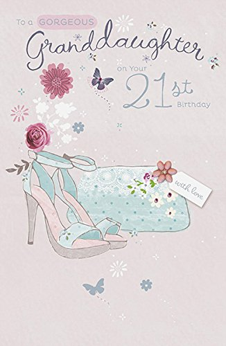 Amazon Granddaughter 21st Birthday Greeting Card