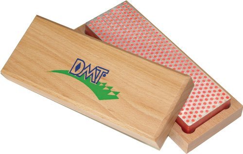 DMT W6F 6-Inch Diamond Whetstone Sharpener, Fine with Hardwood Box