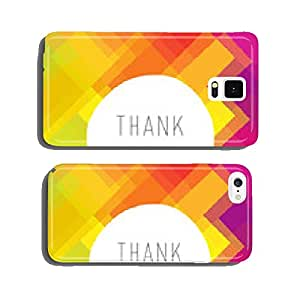 Thank you card colorful, vector cell phone cover case Samsung S5