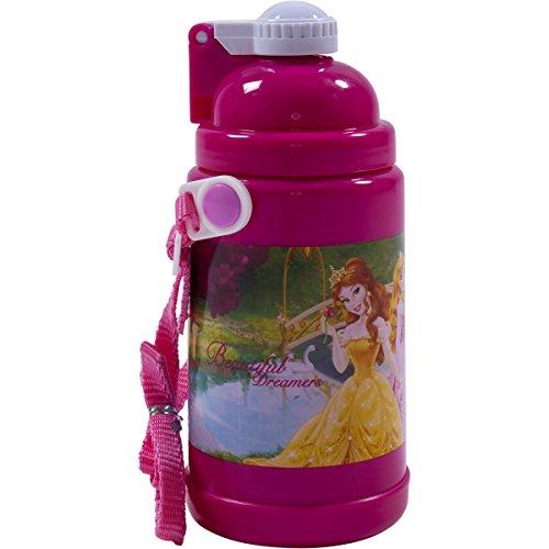Disney Princess Beautiful Dreamers Plastic Water Bottle with Straw kids...