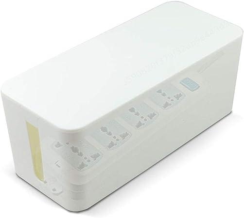 PRINDIY Caja para Cables de plástico para organizar los Cables para Ocultar la regleta de Cobertura: Amazon.es: Hogar