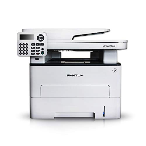 Pantum M6802FDW All-in-One Wireless Monochrome Laser Printer, Print Copy Scan Fax Multifunction Printers, Wireless Networking and Duplex Printing