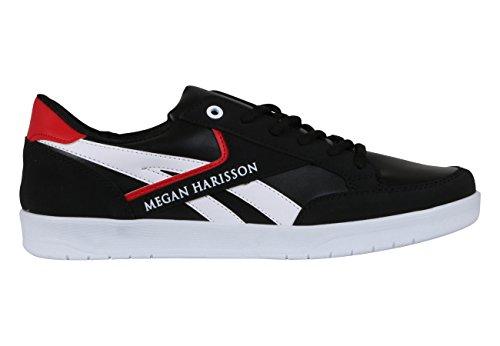 Megan Harisson - Zapatillas de Lona para hombre negro