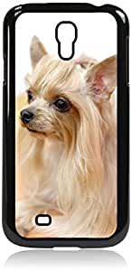 Sad Puppy- Case for the Samsung Galaxy S4 i9500- Hard Black Plastic Snap On Case Outer Shell with Inner Soft Black Rubber Lining