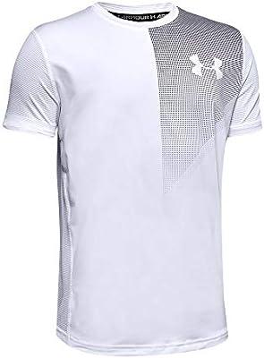 Under Armour Raid - Camiseta de Manga Corta para niño, Evergreen, Raid, Niños, Color Blanco, tamaño X-Small: Amazon.es: Deportes y aire libre