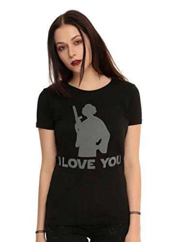 Star Wars Princess Leia I Love You Girls T-Shirt (Princess Leia Disney Princess)