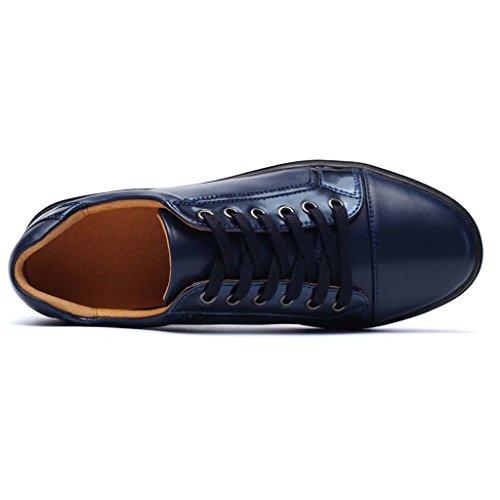 ZXCV Zapatos al aire libre Zapatos de cuero bajos para ayudar a los zapatos de los hombres jovenes de los deportes calza los zapatos de los hombres de la marea Azul