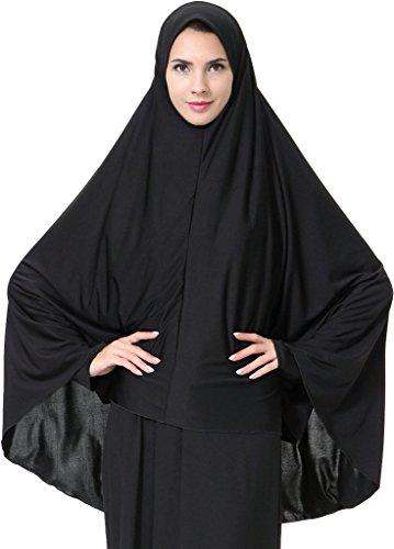 Ababalaya Womens Elegant Modest Muslim Islamic Ramadan Soft Lightweight Jersey Hijab Long Scarf