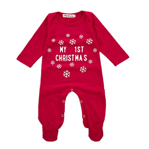 Babys First Christmas Pjs - WINZIK Baby Pajamas My 1st Christmas