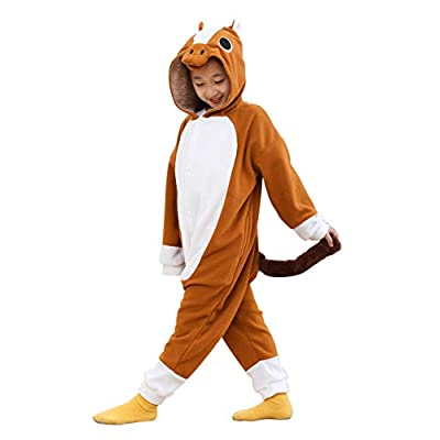 Kids Unisex Animal Onesie Pajamas Cosplay Halloween Costume Grey Wolf Gifts: Clothing