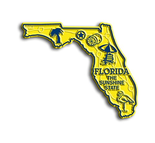 Florida State Map Magnet by Classic (State Shape Flexible Magnet)