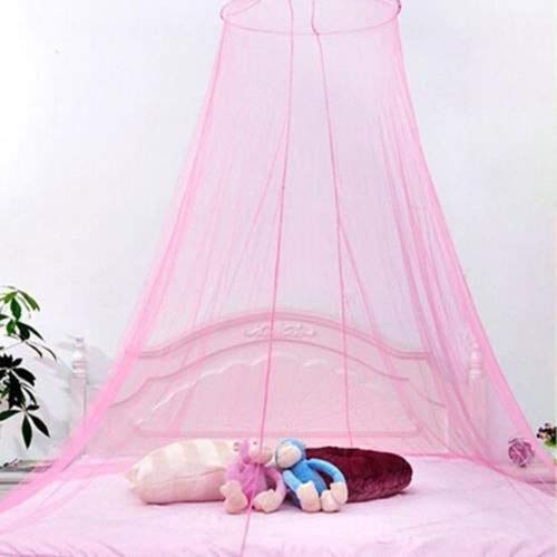 Mosquito Net - Elegant Lace Mesh Canopy Princess Round Dome Bedding Net Bed Mosquito Netting - Infant Sliding Bassinet Outdoor Outfit Decor Zipper Rain Indoors Dark Over Prices Window Gir