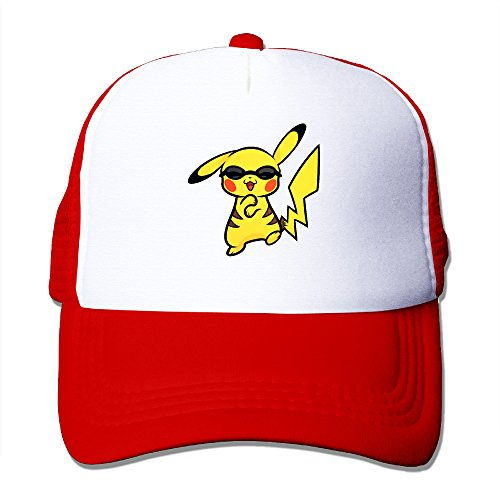 [Pokemon Pikachu Adults Costume Hoodie Sports Mesh Hat] (Pinocchio Adult Costumes)