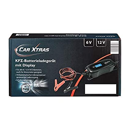 CAR XTRAS Medion de Coche/Motocicleta Cargador de batería: Amazon ...