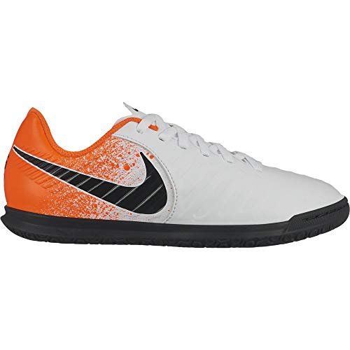 Nike Kids Jr LegendX 7 Club (IC) Indoor Soccer Shoe White/Black/Hyper Crimson Size 6 M US