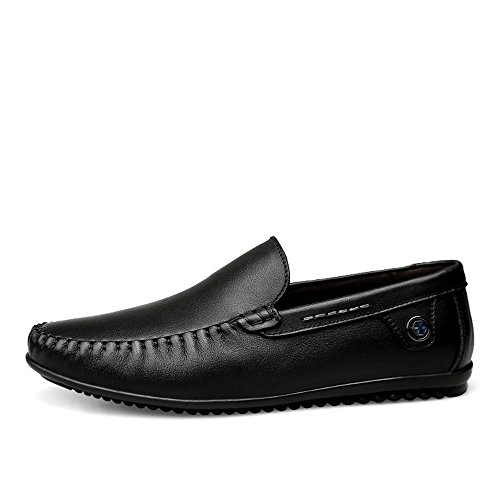 tacco guida 40 Mocassino vacchetta EU Hongjun Nero con uomo piatto stile Color Mocassini slip di da on Dimensione Mocassino minimalista Mocassino 2018 in shoes uomo pelle wTAqaPS