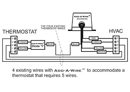 thermostat wiring diagram 5 wire thermostat image venstar acc0410 add a wire accessory for all 24 vac thermostats 4 on thermostat wiring diagram