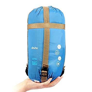 Ohuhu® 75 x 34  Sleeping Bag with a Carrying Bag for Temperatures 48 F to 59 F, Zip at the Left Side