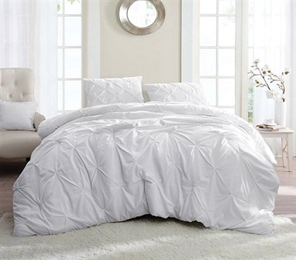 0233ca0ca60 Image Unavailable. Image not available for. Color  White Pin Tuck Twin XL  Comforter