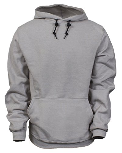 National Safety Apparel C21IG03XL 14 oz Flame Resistant Modacrylic Blend Fleece Hooded Pullover Sweatshirt, X-Large, Gray by National Safety Apparel Inc