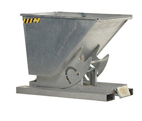 Vestil D-100-MD-GAL Self-Dump Hopper MD, Galvanized, 1 cu. yd, 4000 lb. Capacity, 61