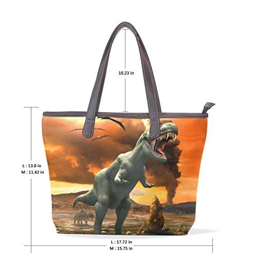 Large Bennigiry Handbag Patern Bags Ladies Women Handle Top Tote Shoulder Silhouette CpnT7fpq5
