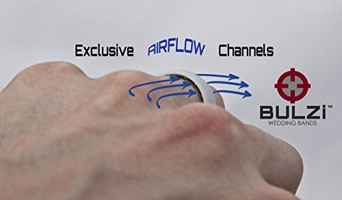 Amazoncom BULZi Massaging Comfort Fit Silicone Wedding Ring