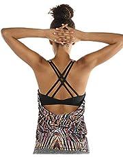 UK Women Yoga Tank Tops Sleeveless Gym Stretch Shirt Fitness Activewear Tops