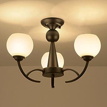Estilo europeo moderno, lámparas y linternas, comedor, campo dormitorio, lampara de techo