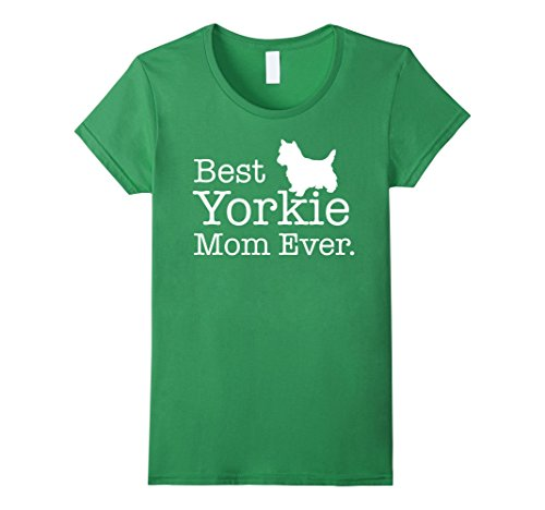 [Women's Best Yorkie Mom Ever T shirt Yorkie Gifts Shirt Large Grass] (Best Halloween Costumes For Moms)