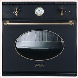 Smeg - Horno Indep. Smeg Si800Mfa5, 51L, Multifuncion, Antracita-Dorado-Rustico, Temporizador, Reloj Analogico, Autolimpiable